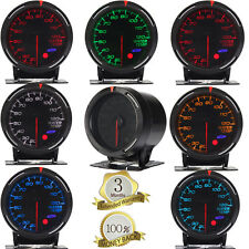 "2.36"" 60mm 7 Color LED Car Van Auto Water Temp Temperature Gauge Meter 20~120℃"