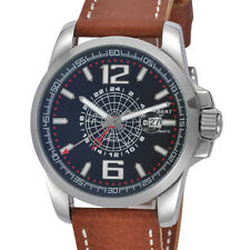44mm Modisch  Brown Leather Armbanduhr Date 5ATM Automatic Sportlich Watch