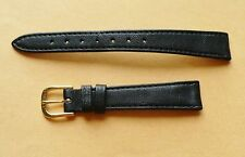 14MM BLACK GENUINE LEATHER WATCH BAND FITS VACHERON CONSTANTIN!