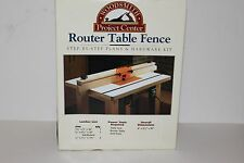 Woodsmith Router Table Fence Hardware and Plans