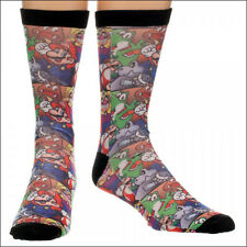 Nintendo Super Mario Bros Yoshi Luigi Wario Costume Sublimated Crew Socks NEW