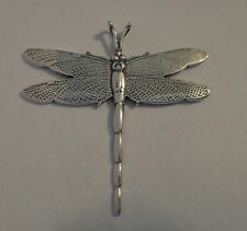 Sterling Silver 45x45mm Large 6 gram 3D Dragonfly Charm Pendant