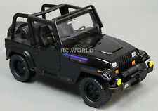 1/24 DieCast 1990's  JEEP WRANGLER RUBICON Model TRUCK Black