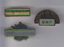 3 RARES PINS PIN'S .. BANQUE BNP PARIBAS REGIONS SERVICE MIX  ~A3