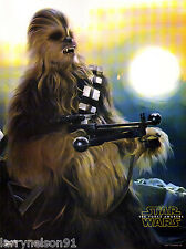 PETER MAYHEW CHEWBACCA POSTER STAR WARS THE FORCE AWAKENS REBELS 00A