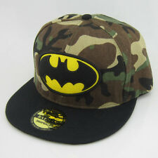 New Camo Camouflage Adjustable Snapback Batman Flat Bill baseball Hat cap Black