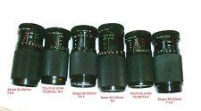 Canon FD Mount Zoom 80-200mm Macro Zoom Lens AE1 AE1 Program A1 F1 AV1 AL1 Lot 2