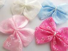 40 Pink,White,Blue Organza Ribbon Sheer Butterfly Bow/sewing/trim/bow/craft F56