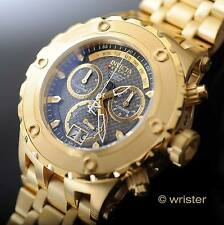 Invicta Subaqua Reserve Swiss Chrono 18k Gold IP SS Black CF 500m WR Men's Watch