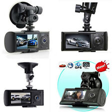 "FULL HD 2.7"" GPS Dual Lens Dash Car DVR G-sensor CAM Camera Recorder Camcorder R"