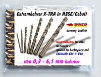 Spiralbohrer Extrem Bohrer Edelstahlbohrer Metallbohrer HSSE/CO Stahlbohrer