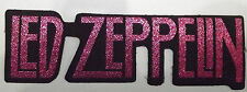 LED ZEPPELIN  Genuine Vtg 1980`s Paper Thin Logo Shaped Woven Iron On Patch
