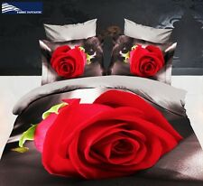RED ROSE King Size Bed Duvet/Doona/Quilt Cover Set New