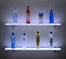 "96"" Floating Wall Shelf -LED Color Changing Lights -Great Rack Display Showcase!"