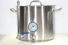 Eagle Brewing Heavy Duty 8 Gallon Stainless Hot Liquor Tank Mash Tun Brew Kettle