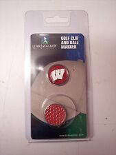 Wisconsin Badgers Golf Hat Clip Round Ball Mark