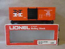Lionel Model Train 6-9605 New Haven Hi-Cube Box Car O Scale