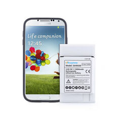 9000mAh Extended Battery With Black Cover For Samsung Galaxy S4 i9500 i9505