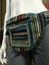 Cotton 4 Pocket Tribal Print Colorful Hip Belt Utility Travel Hippie Bum Bag