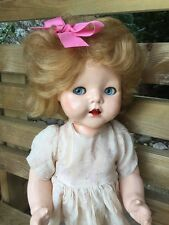 1950s Pedigree Walker Hard Plastic Vintage Doll in Original Dress