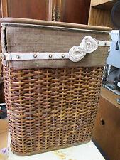 Clothing Brown Wicker Basket Flower