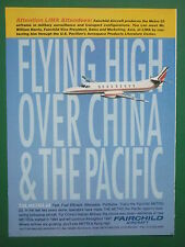 12/1995 PUB FAIRCHILD AIRCRAFT SWEARINGEN METRO 23 CHINA PACIFIC ORIGINAL AD