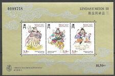 Macau -  Legenden und Mythen (III) postfrisch 1996 Mi. 856-858 Block 36