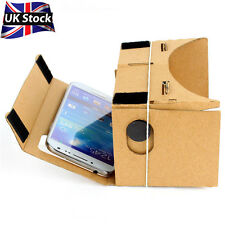 Fun DIY Google Cardboard 3D Virtual Reality Glasses VR For Android iPhone iOS UK