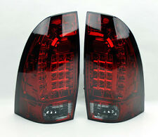 Toyota Tacoma 05-14 LED Rear Tail Lights Red Smoke Smoked Pair RH LH