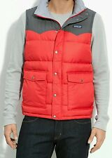 PATAGONIA SLINGSHOT DOWN PUFFER WESTERN VEST Men's M RED & GRAY jacket