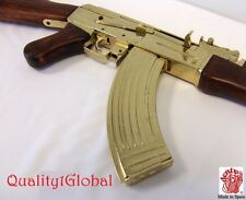 SALE NEW REAL EURO WOOD METAL REPLICA GOLD AK-47 FULL STOCK MOVIE PROP GUN EKOL