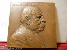 1931 TRES RARE PLAQUE BRONZE par LANDOWSKI SCIENCES MORALES INSTRUCTION