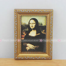 Mona Lisa Painting Picture Frame Art for Barbie Blythe Dollhouse Miniature 1:12