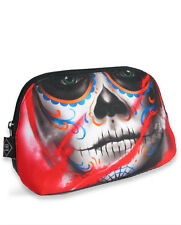 LIQUOR BRAND TOILETRY COSMETIC BAG PENCIL CASE VISIONS TATTOO DAY OF THE DEAD