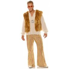 Hippie Costume Vest Faux Fur 60s 70s Halloween Fancy Dress