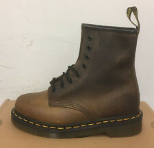 DR. MARTENS 1460  TAN YOWZA  LEATHER  BOOTS SIZE UK 9
