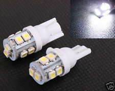 2 White T10 921 License Plate Interior 10LED SMD Light Bulbs 194 168 912 921 W5W