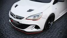 FRONT SPLITTER (GLOSS BLACK) FOR VAUXHALL/OPEL ASTRA J VXR (OPC) (2009-up)