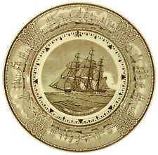 "Rare Wedgwood Plate American Clipper Ship ""Young America"" - Ship info on Base"