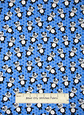 Panda Bear Honeycomb Geometric Blue Cotton Fabric HG&Co #8724 At The Zoo YARD