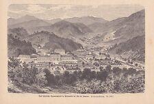Petropolis Rio de Janeiro kaiserliche Sommerpalais HOLZSTICH von 1876 Brasilien