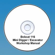 Bobcat 116 Mini Escavatrice Workshop Manuale