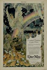 1920 DJER KISS AD / FAIRIES - RAINBOW - FLOWERS SCENE - ARTISTS: F. RICHARDSON
