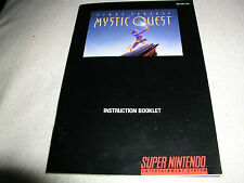 Final Fantasy Mystic Quest Instruction Book / Manual / Map  USA SNES Version