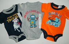 Lot of 3 boys NWT KOALA BABY 1-pc SHARK ROBOT DOG Rompers Bodysuits* NB Newborn