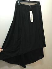 BNWT Womens Sz 26 Autograph Brand Black High Low Hem Elastic Waist Skirt RRP $60