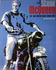 Steve McQueen Car & Motorcycle Show 2013 Laminated Art (Watch Video)
