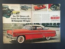 1954 Vintage Ad for Mercury (2 Page Ad)