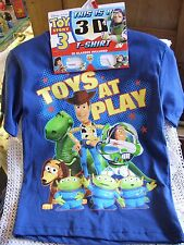 Disney Pixar 3-D Toy Story 3 T-Shirt, 3-D Glasses! Toys At Play, Various Sizes