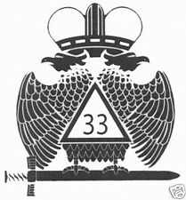 33RD DEGREE WINGS DOWN TAIL LIGHT DECALS  - 2 PACK - MASONIC - FOR ALL VEHICLES